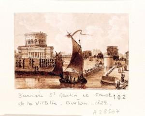 La_barrière_Saint-Martin_et_le_canal_de_la_Villette,_par_Christophe_Civeton_(1796-1831)