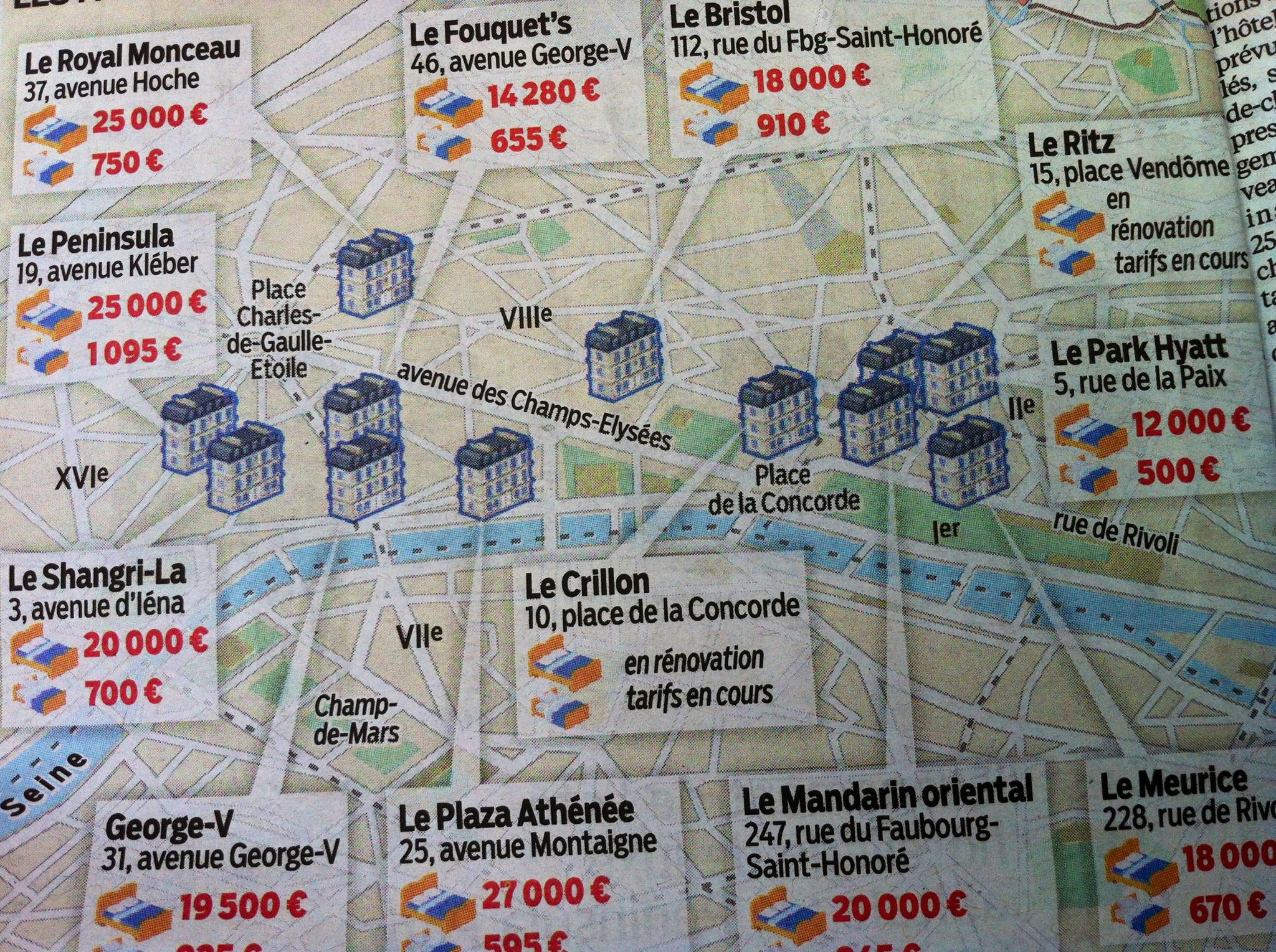 PENINSULA PLAN HOTELS PARIS LUXE